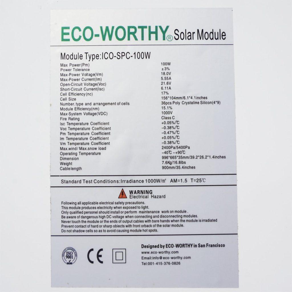 Eco worthy solar panel sticker
